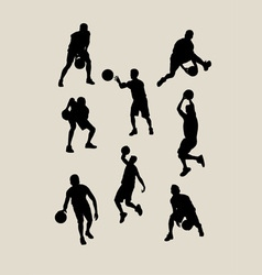 Basketball Silhouettes vector image