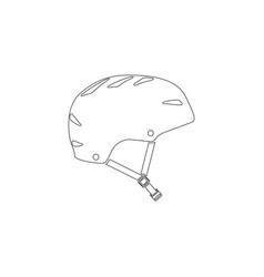 bicycle helmet flat icon vector image