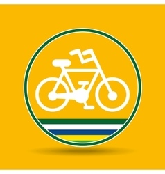 Bike cycling sport badge icon vector