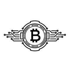 bitcoin abstract silver symbol internet money vector image