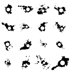 Black blots with space for inscriptions vector image