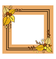 border empty inside with place text leaf vector image