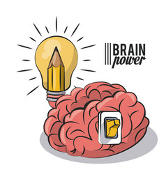 brain power concept icon ilustration vector image