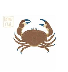 Brown crab cartoon vector