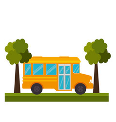 Bus public transport icon vector