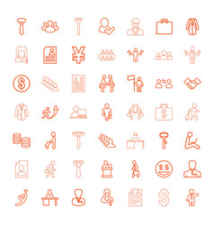 Businessman icons vector