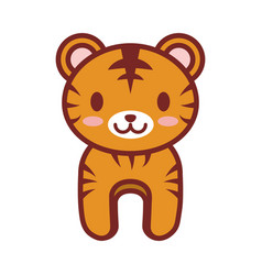 cartoon tiger animal image vector image