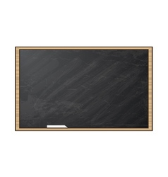 Chalk board Blackboard isolated on white vector image