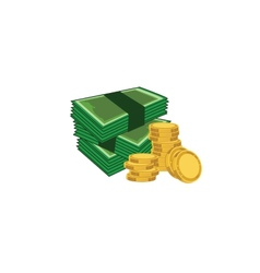Coins and paper vector image