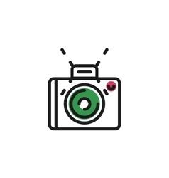 Color line icon for flat design Camera photo vector image
