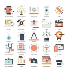Creative process icons vector