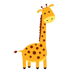 cute cartoon giraffe isolated on white background vector image