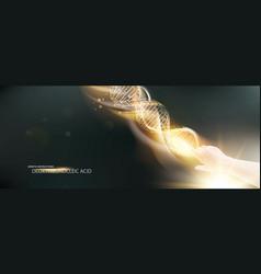 dark background with glow dna vector image