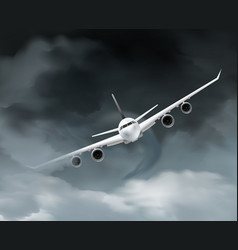 Dark weather aircraft composition vector