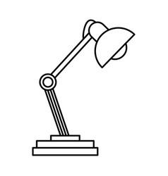 Desk lamp light accessorie image line vector