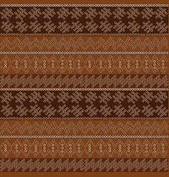 Dotted motifs in african style on brown background vector