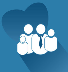 family people together icon vector image