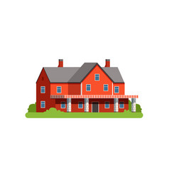 Farm house countryside life object vector