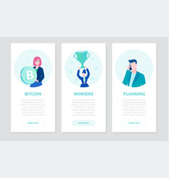 finance - set of flat design style banners vector image