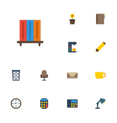 Flat icons watch tea phone and other vector