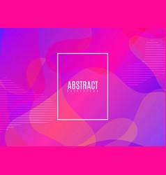 fluid shapes composition colorful geometric vector image