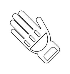 glove protection fireman elements line vector image
