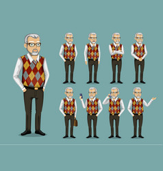 Grandfather in business clothes vector