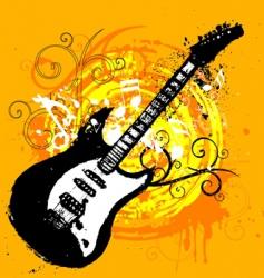 Guitar design vector