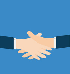 Handshake icon two businessman hands arms vector