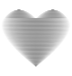 heart black line on white background sign 212 vector image