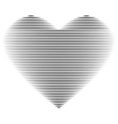Heart black line on white background sign 212 vector