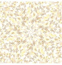 Hypnotic abstract dynamic circular tile mosaic vector