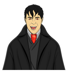 isolated object on white background man vampire in vector image