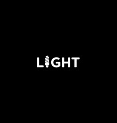 isolated white light text with economical vector image