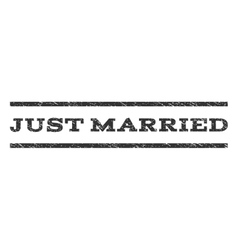 Just Married Watermark Stamp vector