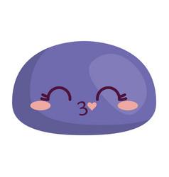 Kawaii face icon vector
