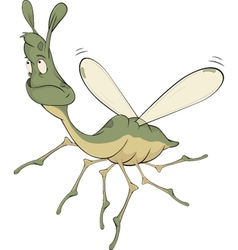 Little green mosquito vector image