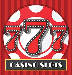 Lucky Seven Casino Slot Machine Background Icon vector image