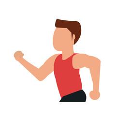man avatar running icon image vector image