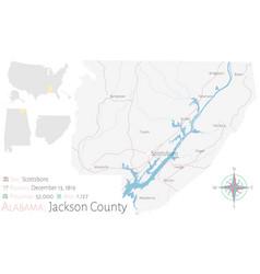 Map jackson county in alabama vector