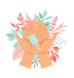 menstrual cup in hands vector image