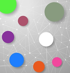 Modern connection modeling background with circles vector image