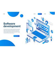 modern isometric design software development vector image
