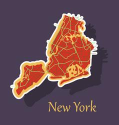 New york city map - sticker vector