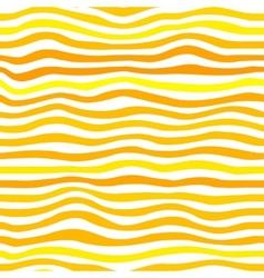 Orange waves simple seamless pattern vector