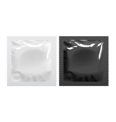 Packaging foil pouch medicine or condom vector