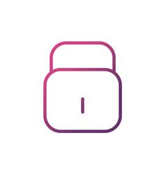 padlock network social media icon line vector image