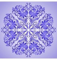 pattern of blue ornament for design vector image