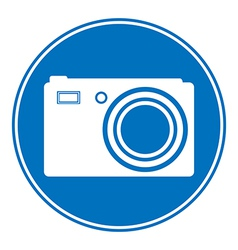 Photo camera allowing sign vector image