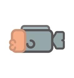 Pixel fish icon Healthy food design vector
